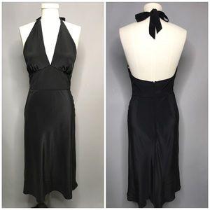 Shoshanna Black Silk Halter Dress